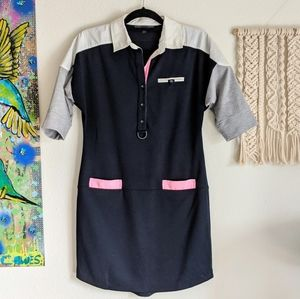 Forenza Preppy shirt dress sz Small